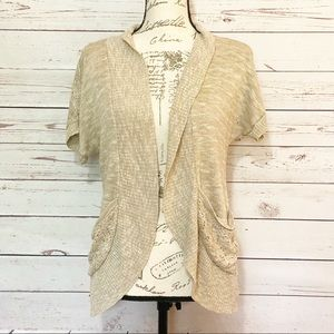Mossimo Tan Open Front Cardigan